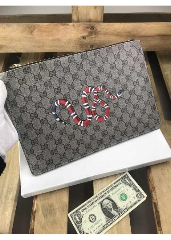 Косметичка Gucci Snake бежевая