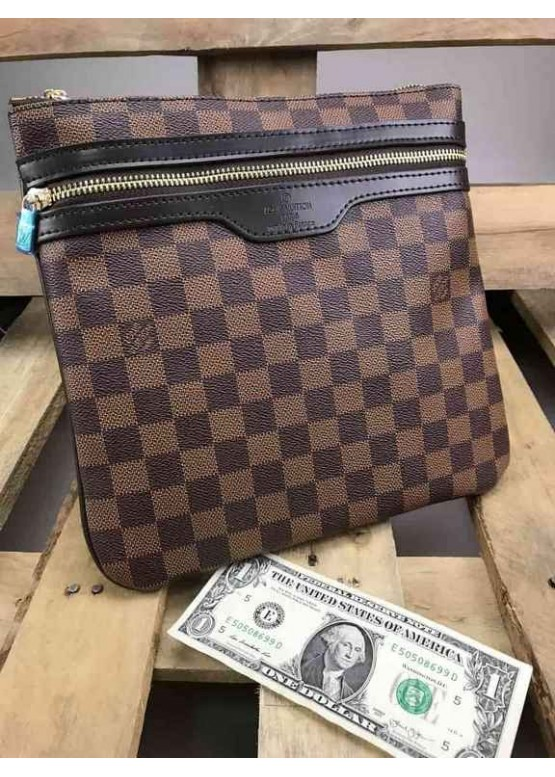 Сумка Louis Vuitton коричневая шахматка