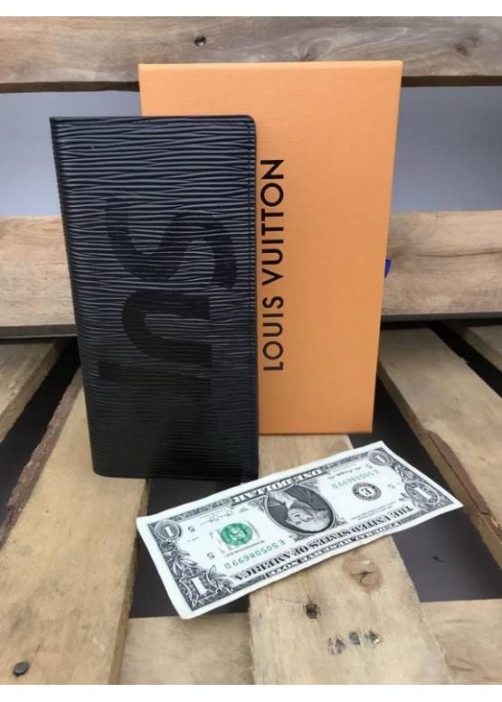 Бумажник Louis Vuitton Supreme черный