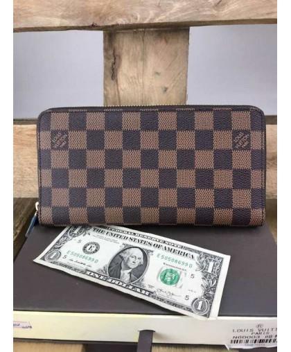 Органайзер Louis Vuitton Zippy коричневый люкс качество