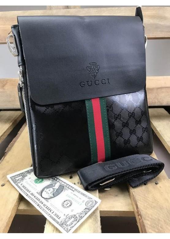 Cумка планшетка Gucci черного цвета