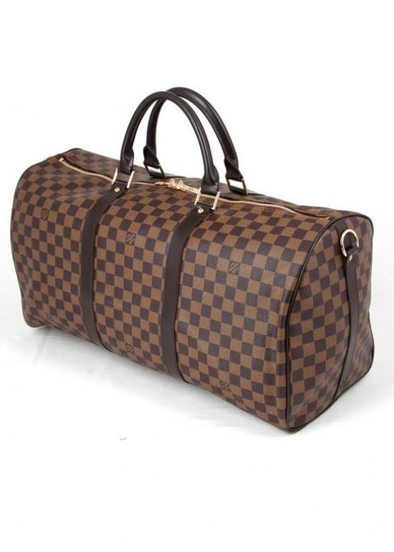 Сумка Louis Vuitton LOUIS VUITTON KEEPAL 55 коричневая