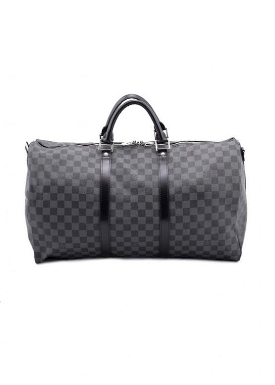 Сумка Louis Vuitton LOUIS VUITTON KEEPAL 55 черная
