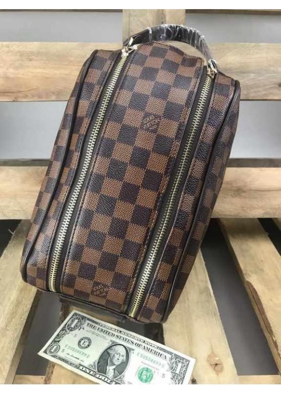 Косметичка Louis Vuitton коричневая