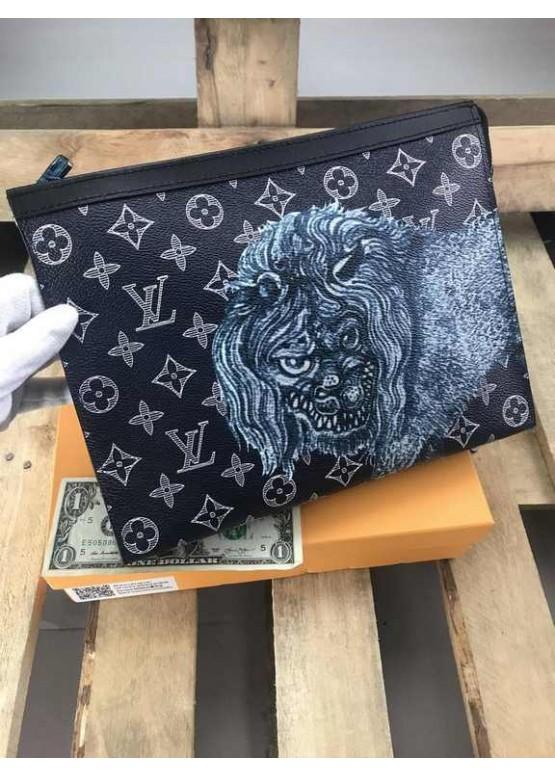 Косметичка Louis Vuitton Safari черная