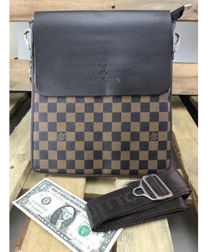 Cумка планшетка Louis Vuitton коричневая